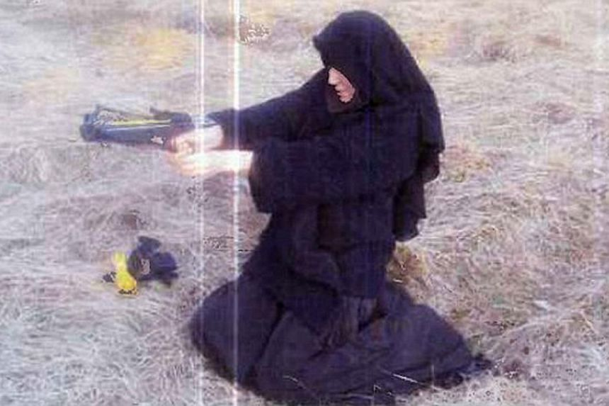 Hayat Boumeddiene in 2010 while she claimed to have crossbow training with Amedy Coulibaly.-- PHOTO: MAILONLINE