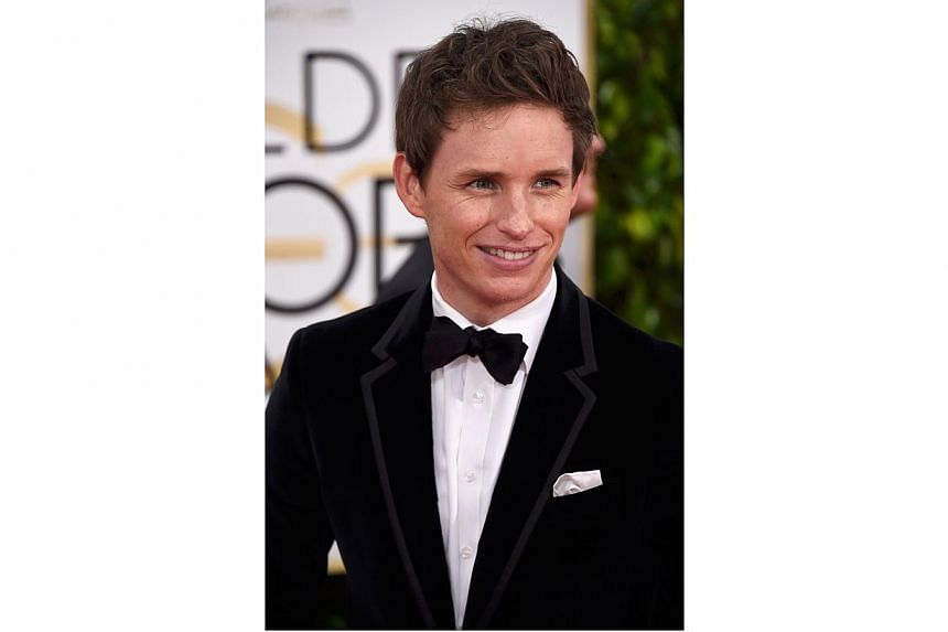 Eddie Redmayne wins best drama actor for his role in The Theory of Everything at the Golden Globes on Sunday. -- PHOTO: AFP