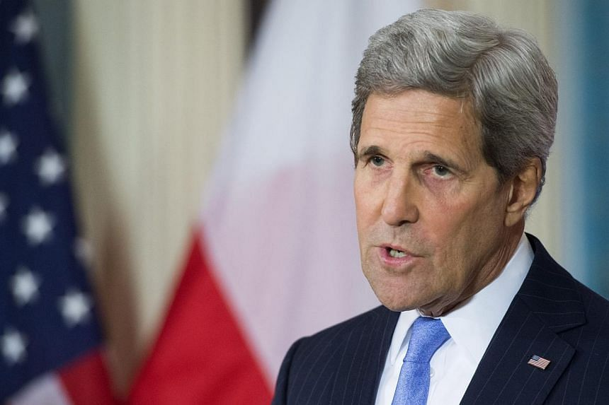 US Secretary of State John Kerry delivers remarks after a meeting with the Polish Foreign Minister Grzegorz Schetyna, at the State Department in Washington, DC, on Jan 7, 2015. United States Secretary of State John Kerry announced on Monday that