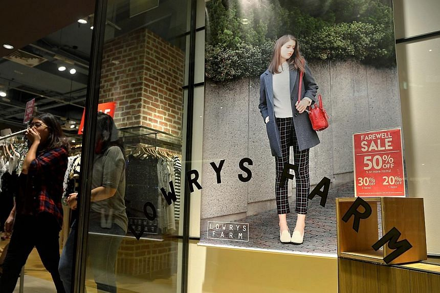 Japanese fashion brand Lowrys Farm will be shutting down all nine boutiques by Feb19, letting go of about 150 staff, after barely three years in the Singapore market. -- ST PHOTO: KUA CHEE SIONG
