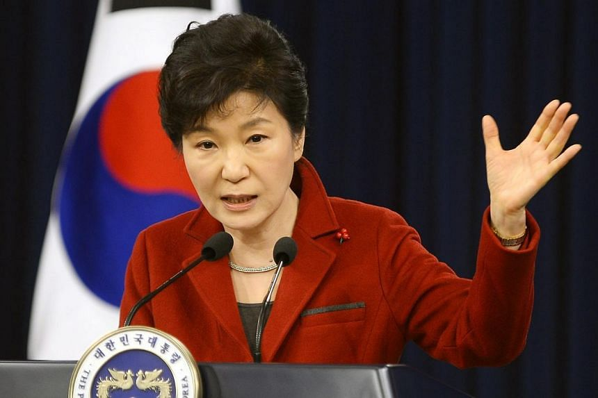 South Korean President Park Geun Hye said on Monday, Jan 12, 2015, she had yet to see The Interview - the Hollywood comedy about a CIA plot to assassinate North Korean leader Kim Jong Un. -- PHOTO: EPA