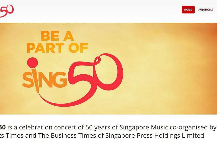 Three corporations have come on board to play a major role in the upcoming Sing50 mega concert to mark half a century of Singapore music since independence. -- PHOTO: ST DIGITAL