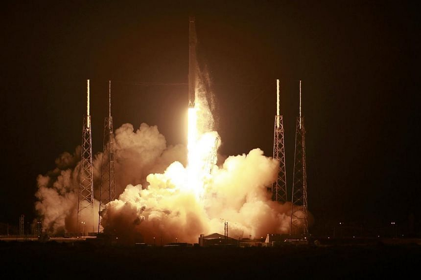 The unmanned Falcon 9 rocket launched by SpaceX on a cargo resupply service mission to the International Space Station lifts off from the Cape Canaveral Air Force Station in Cape Canaveral, Florida, on Jan 10, 2015.SpaceX's unmanned Dragon carg