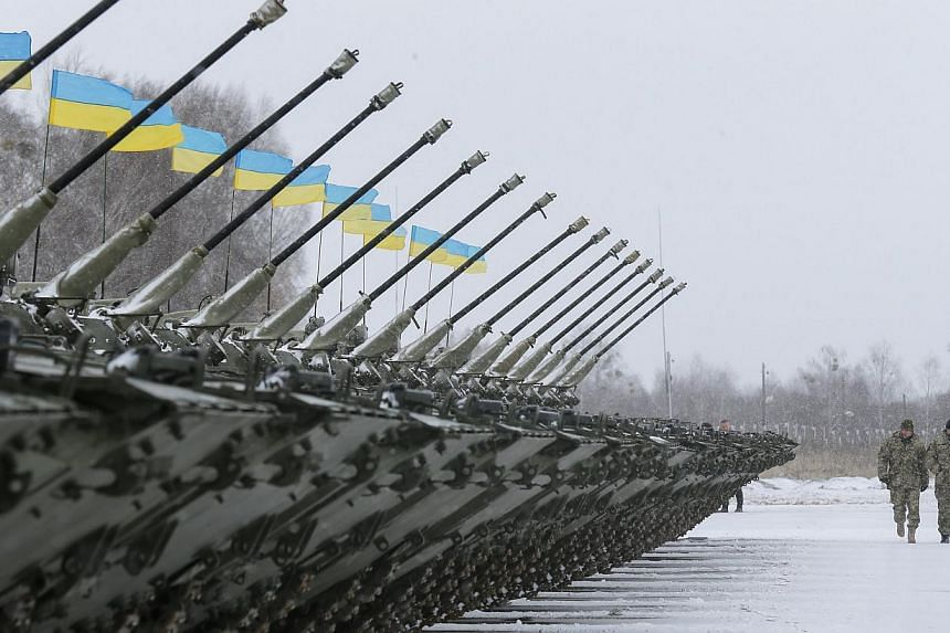 The writer says India is the ideal Asian country to send a peacekeeping mission to the conflict zone in south-east Ukraine, where the Ukrainian military (above) is battling pro-Russian groups.
