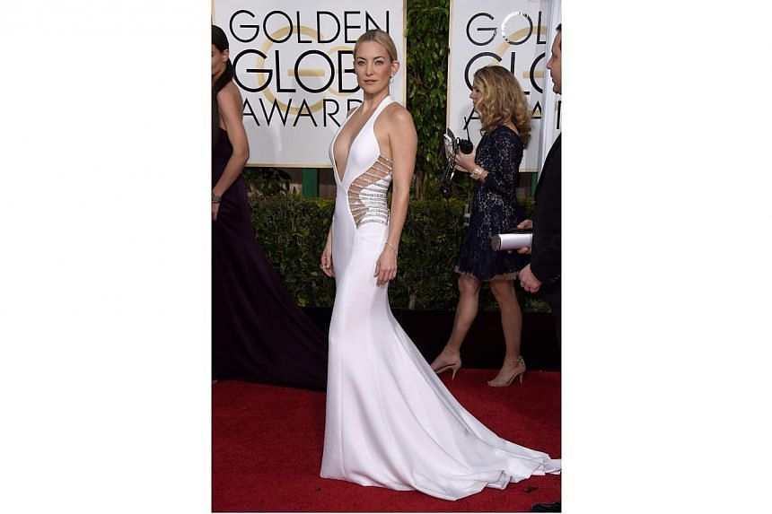 Actress Kate Hudson at the 72nd Annual Golden Globe Awards on Jan 11, 2015. -- PHOTO: AFP