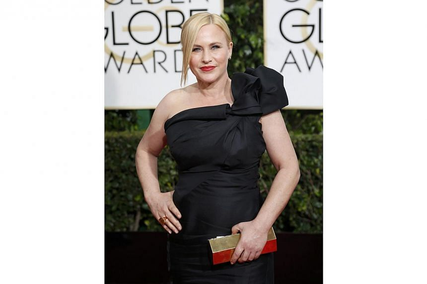 Patricia Arquette won the best supporting actress Golden Globe on Sunday for her role in Richard Linklater's coming-of-age drama Boyhood. -- PHOTO: REUTERS