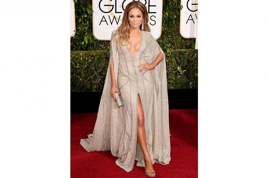 Jennifer Lopez at the 72nd Annual Golden Globe Awards on Jan 11, 2015, in Beverly Hills, California. -- PHOTO: AFP