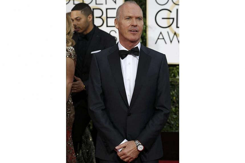 Birdman actor Michael Keaton at the 72nd Annual Golden Globe Awards on Jan 11, 2015 in Beverly Hills, California. -- PHOTO: REUTERS