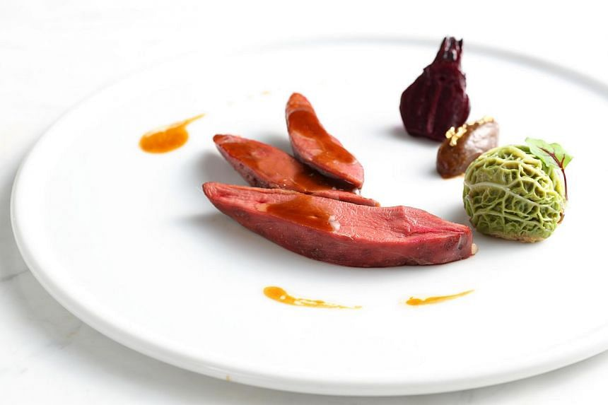 The Rose Bresse Pigeon at the Tate Dining Room and Bar. -- PHOTO: TATE DINING ROOM AND BAR