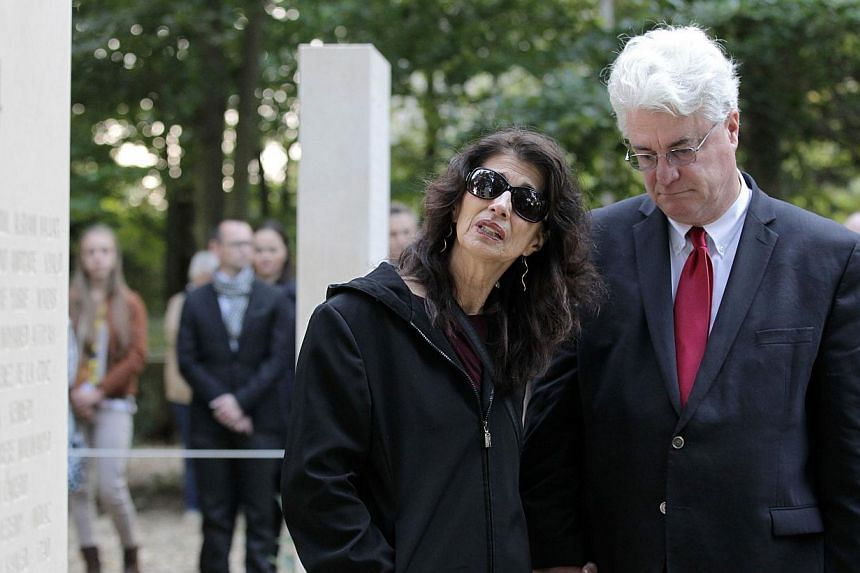 Slain US journalist James Foley's parents at a memorial for war reporters in France last October. Journalists like Mr Foley who died speaking truth to power - those are the real heroes of freedom of expression.