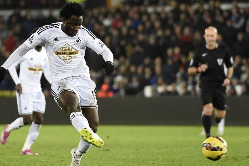 The signing of striker Wilfried Bony has put Manchester City in pole position to retain their English Premier League title says former Manchester United captain Bryan Robson. -- PHOTO: REUTERS