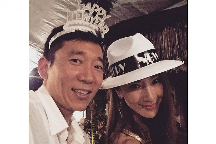 Actress Sonia Sui (right) has married her 36-year-old boyfriend in Las Vegas after a four-month whirlwind romance. -- PHOTO: INSTAGRAM.COM/SUITANGTANG
