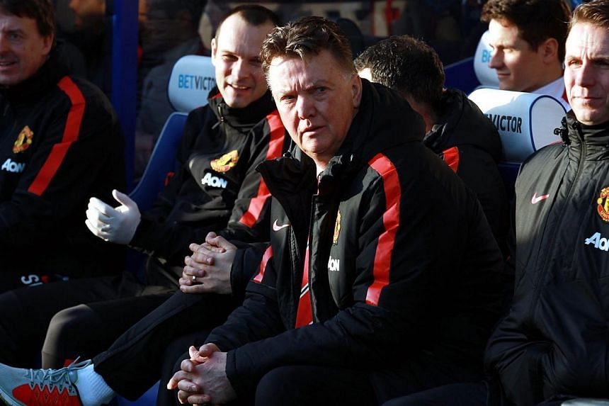 Manchester United manager Louis Van Gaal looking on during the Barclays Premier League game against Queens Park Rangers at Loftus Road in West London, Britain, on Jan 17, 2015. A change of formation helped Manchester United to a 2-0 win over QPR