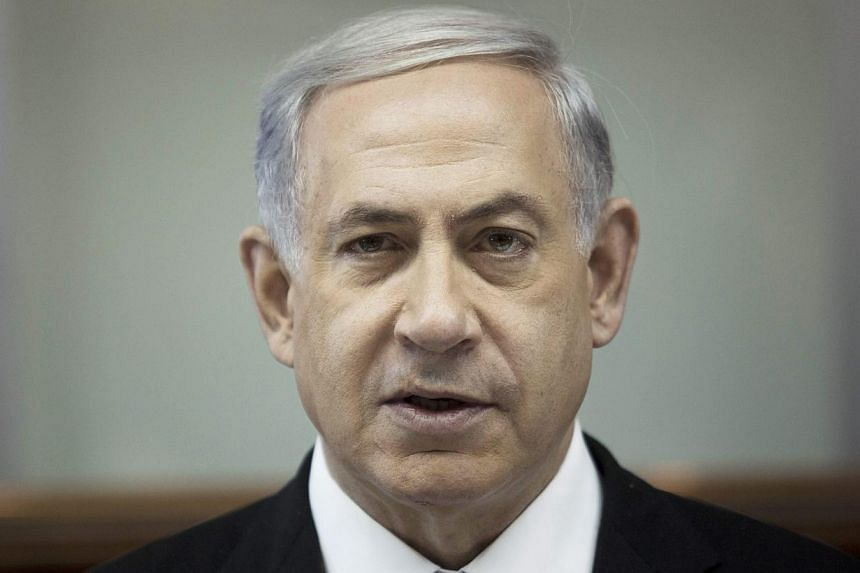 """Israeli Prime Minister Benjamin Netanyahu said on Sunday a wave of anti-Semitism and what he called """"Islamisation"""" in Western Europe are factors in a Jewish state push to expand trade with Asia. -- PHOTO: EPA"""