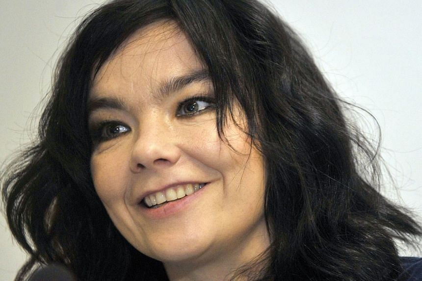 Bjork (above) plans a series of intimate concerts at New York classical halls as the experimental Icelandic singer releases her new album in March. -- PHOTO: AFP