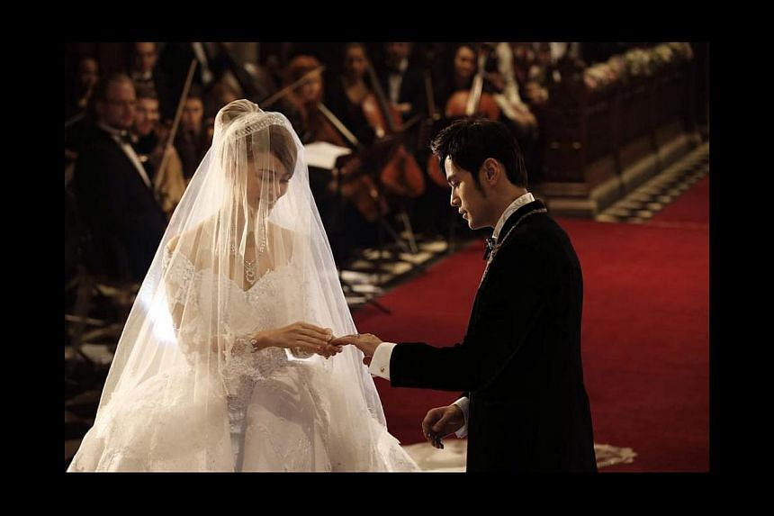 Jay Chou weds Hannah Quinlivan at Selby Abbey in Yorkshire, England on Jan 17, 2015.-- PHOTO:FACEBOOK/JAY CHOU