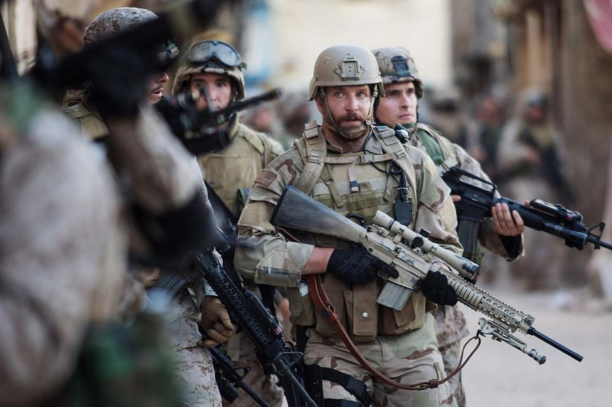 Image still from the movie American Sniper starring Bradley Cooper and Sienna Miller. Clint Eastwood's war film blasted into first place with a massive US$107 million (S$133.7 million) on its debut weekend at the North American box office, a record f