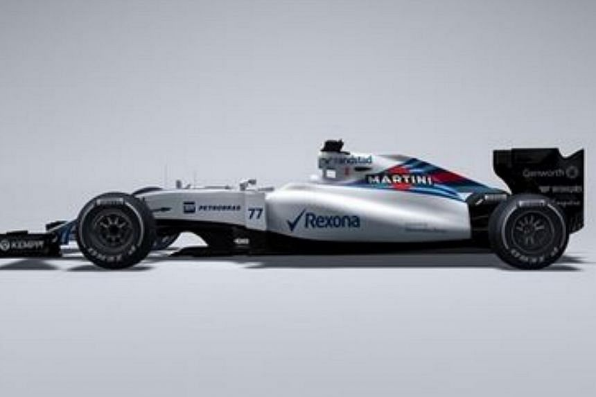 Williams claimed a first on Wednesday by revealing their 2015 car before any of their Formula One rivals had taken the wraps off theirs. -- PHOTO: SCREENGRAB FROM WWW.WILLIAMSF1.COM