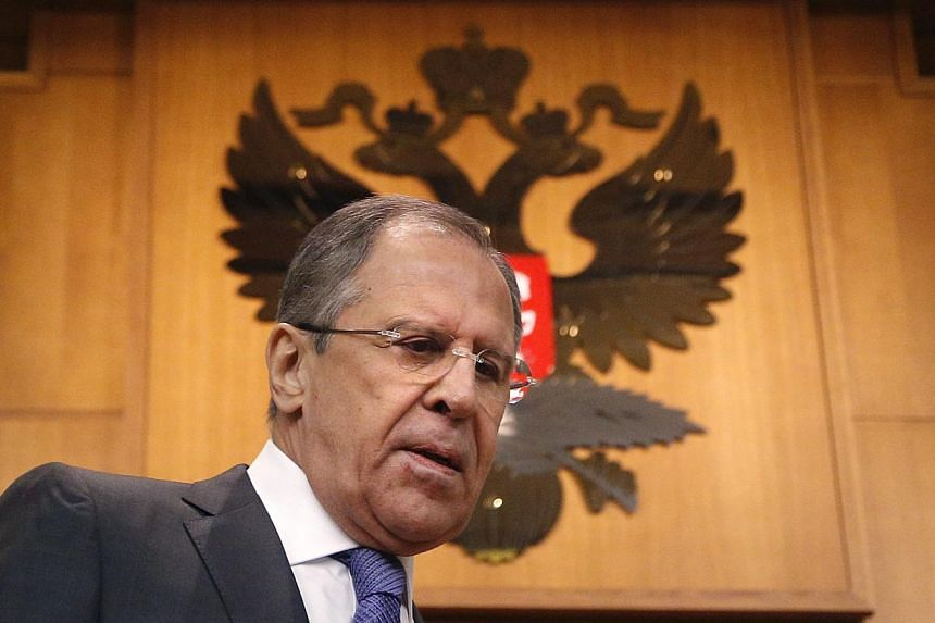 Russian Foreign Minister Sergei Lavrov arrives at his annual news conference in Moscow, Russia on Jan 21, 2015.Russia hit back on Wednesday at US President Barack Obama's State of the Union speech, saying it showed the United States believes it