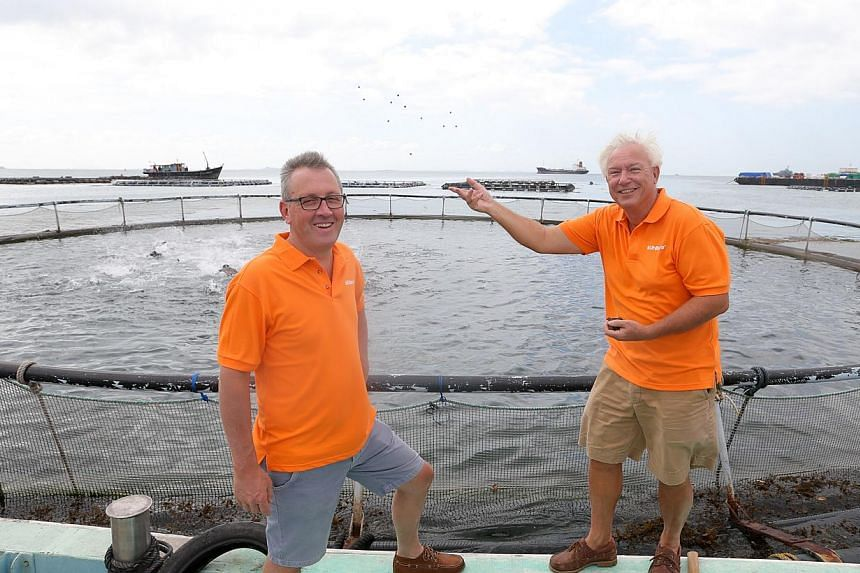 Barramundi Asia's managing director Joep Staarman (left) said that being in Singapore helped to propel and grow the fish farm business, while board member Hans den Bieman (right) said the Republic's reliability and efficiency as a logistics and busin