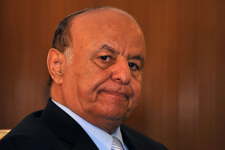YemenPresident Abdrabuh Mansour Hadi at the presidential palace in Sanaa, Yemen, in 2013. Mr Hadi, 69, whose palace compound was seized and residence attacked by Huthi Shi'ite militiamen on Tuesday, has ruled over Yemen for three turbulent year