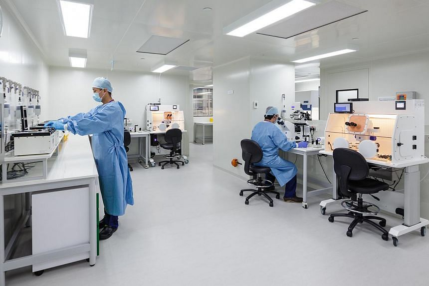Virtus Fertility Centre Clean room embryology laboratory. -- PHOTO: VIRTUS FERTILITY CENTRE