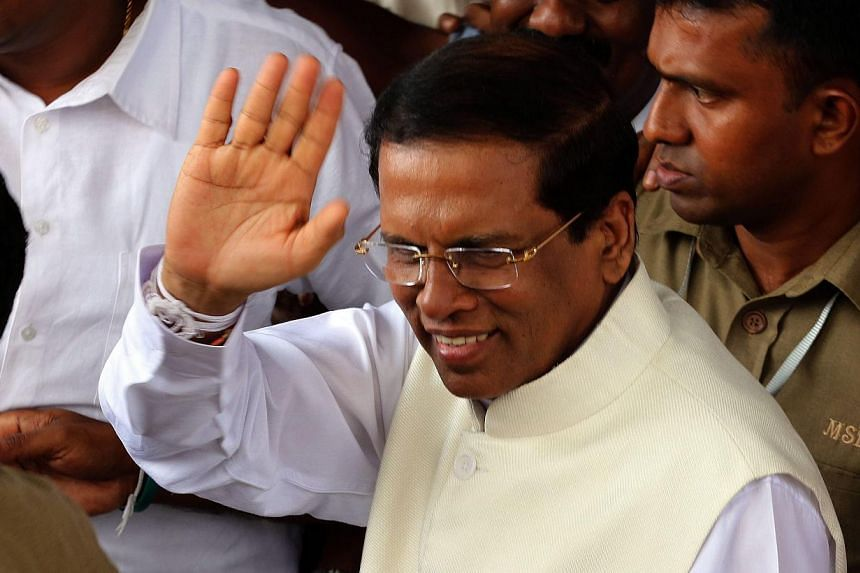 """Sri Lanka's President Maithripala Sirisena (above), has said India is the """"first, main concern"""" of his foreign policy and that he will review all projects awarded to Chinese firms, including a sea reclamation development in Colombo that would give Be"""