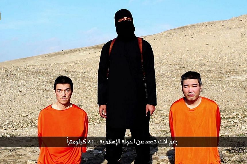 "The Islamic State in Iraq and Syria (ISIS) will release a statement ""soon"" on its two Japanese hostages, Japan's public broadcaster NHK said on Friday, citing an unidentified spokesman for the al-Qaeda breakaway group. -- PHOTO: AFP"