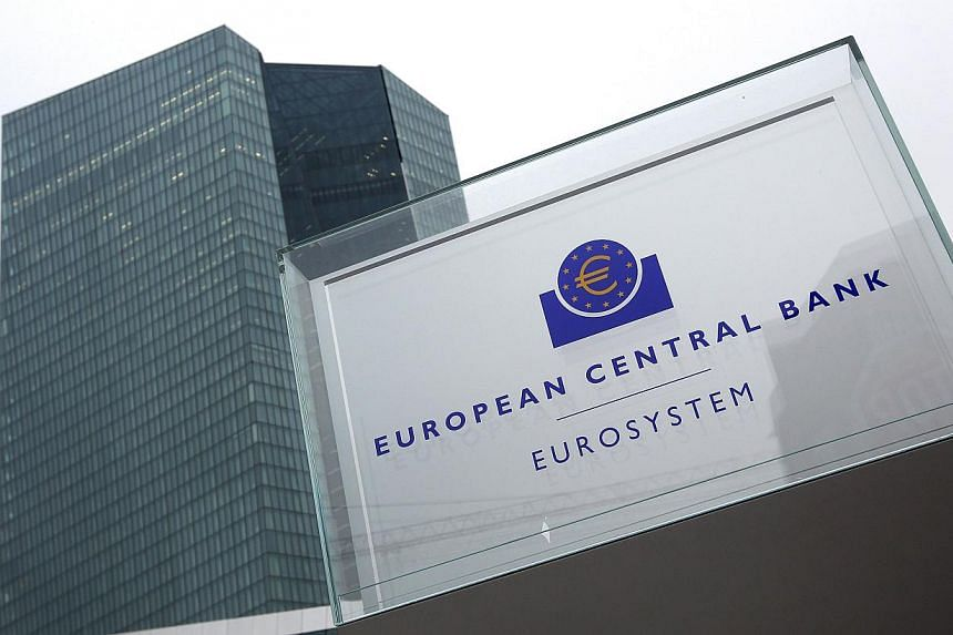 The European Central Bank's headquarters (ECB) at Frankfurt, Germany. -- PHOTO: AFP