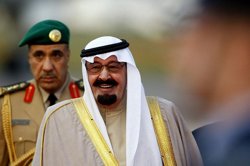 Oil prices surged following the death of Saudi Arabia's King Abdullah (above). -- PHOTO: REUTERS