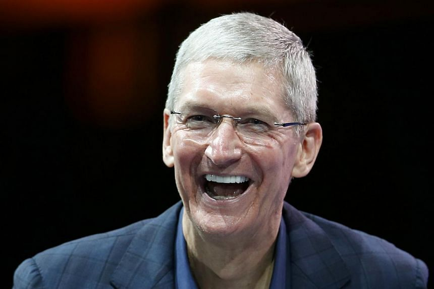 Mr Tim Cook's package includes salary of US$1.75 million and US$6.7 million in non-equity incentive compensation for the fiscal year that ended in September. -- PHOTO: REUTERS