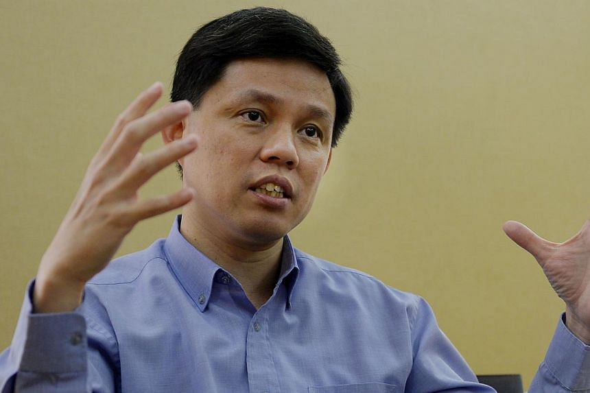 Cabinet minister Chan Chun Sing (above) has joined the National Trades Union Congress (NTUC) immediately on a part-time basis, the labour movement announced this evening. -- PHOTO: BH FILE
