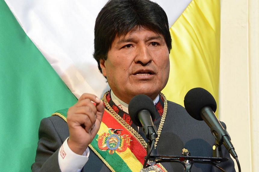 Bolivia's President Evo Morales speaks after he was sworn in for a third term in office, at the congress in La Paz on Jan 22. -- PHOTO: REUTERS