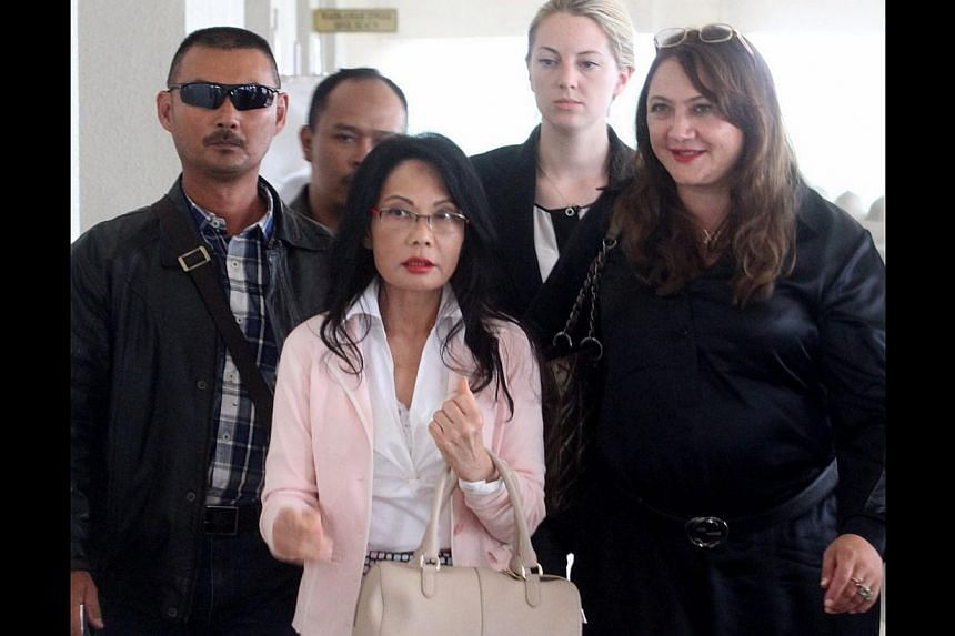 Pauline Chaiat the Kuala Lumpur High Court. Miss Chai,the estranged wife of tycoon Tan Sri Khoo Kay Peng, has failed in her bid to obtain a stay against a High Court decision that the Malaysian courts have jurisdiction to hear their divor