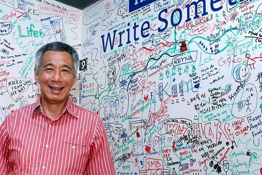 He wears pink on the advice of TV producers, takes pictures with his iPhone and a compact camera, and his favourite cuisine is home-cooked food. These were some nuggets of his personal life that Prime Minister Lee Hsien Loong shared during a 45-minut
