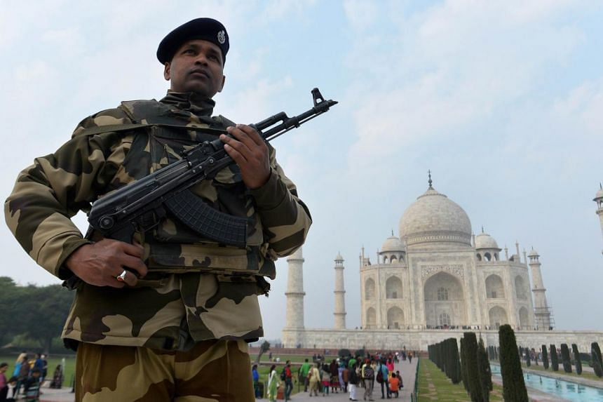 US President Barack Obama has cancelled plans to visit the Taj Mahal during his upcoming visit to India, according to local media. -- PHOTO: AFP