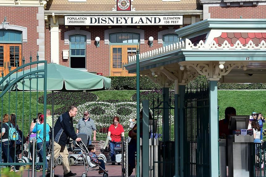 A measles outbreak centredaround Disneyland in California (above) has spread to six more United States states and Mexico. -- PHOTO: AFP