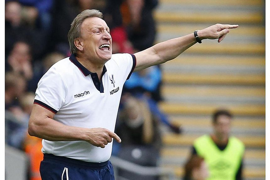 Neil Warnock gestures during the English Premier League football match between Hull City and Crystal Palace at the KC Stadium in Kingston upon Hull. Premier League dismissals are down six from last season, however, as only Warnock and West Bromwich A