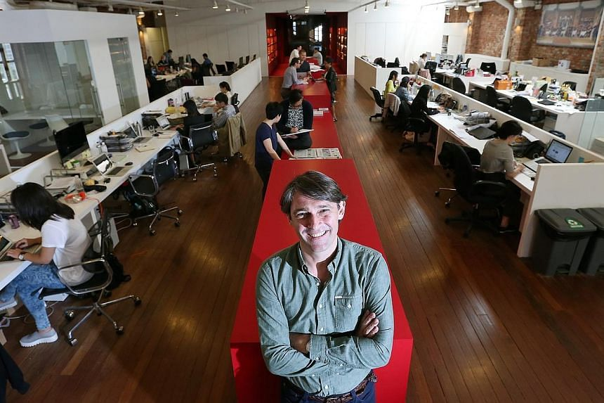 Bartle Bogle Hegarty Asia Pacific CEO John Hadfield in the advertising firm's office. Thecreative agency, which came up with the Ikea BookBook campaign which spoofed Apple videos, has been nominated for a global industry award as one of the top