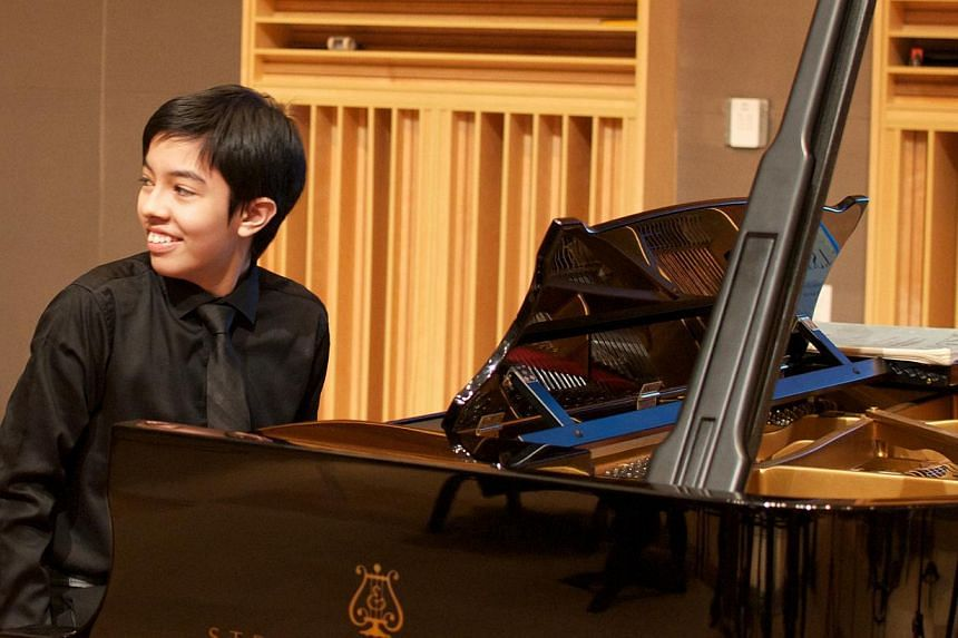 Malaysian pianist Tengku Ahmad Irfan also loves mathematics and science and enjoys playing video games too. -- PHOTO: THE TOP & JOANNE ROBINSON