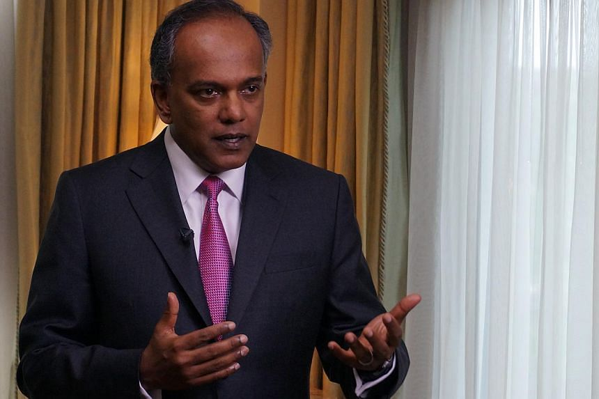 Minister for Foreign Affairs K Shanmugam will be in Kota Kinabalu, Malaysia from Tuesday toattend the two-day Asean Foreign Ministers' Retreat. -- PHOTO: ST FILE