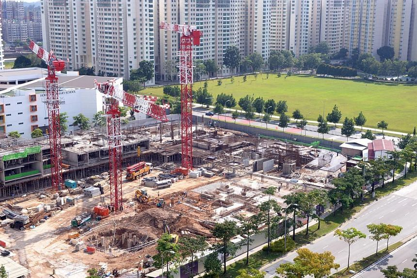 Developer sentiment remains weak, according to the NUS-Redas Real Estate Sentiment Index (RESI) Survey for the fourth quarter of last year. -- PHOTO: ST FILE