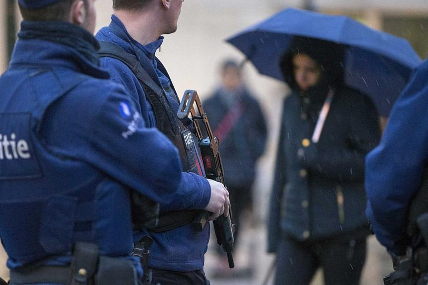 """Belgian police have detained three men in the western Belgian town of Kortrijk with links to """"radicalised groups"""" and found weapons while searching their homes, prosecutors said on Tuesday, Jan 27, 2015. -- PHOTO: REUTERS"""