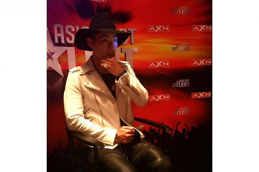 Taiwan-based American singer Van Ness Wu was in town for the launch of the inaugural season of Asia's Got Talent. -- ST PHOTO: GWENDOLYN NG