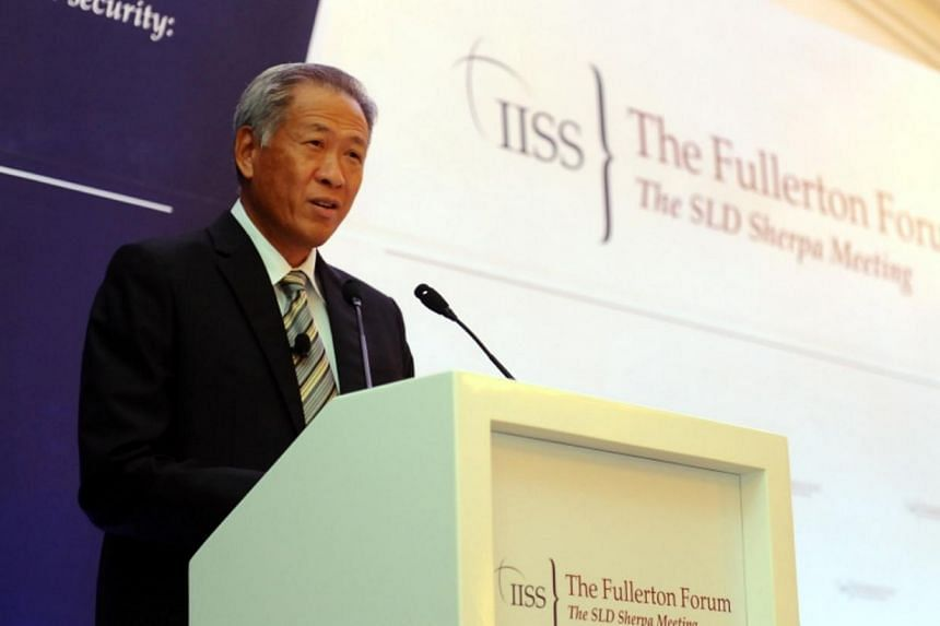 Defence Minister Dr Ng Eng Hen, speaking at the 3rd International Institute for Strategic Studies (IISS) Fullerton Forum: The Shangri-La Dialogue Sherpa Meeting at the Fullerton Hotel on Jan 26, 2015. The People's Action Party (PAP) has lined up more