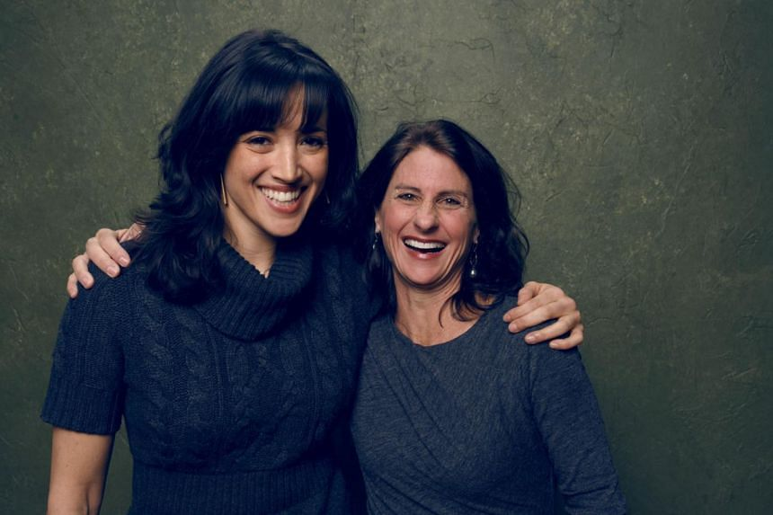 Directors/producers Ronna Gradus (left) and Jill Bauer from Hot Girls Wanted pose for a portrait at the Village at the Lift Presented by McDonald's McCafe during the 2015 Sundance Film Festival on Jan 24, 2015, in Park City, Utah. -- PHOTO: AFP