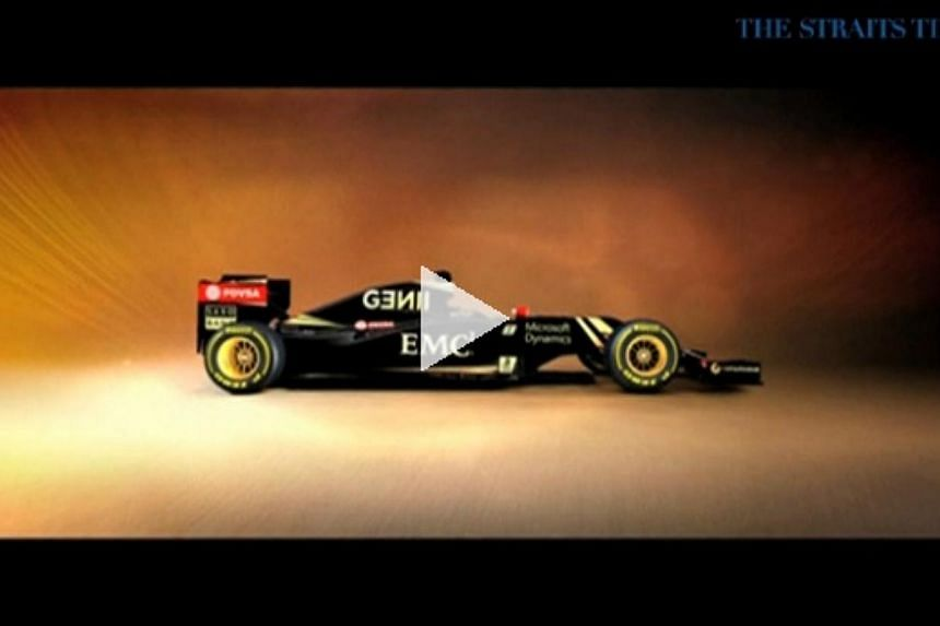 Pictures of the Mercedes-powered E23 were released on the team website with a standard nose replacing the 'twin-tusk' solution that failed to deliver results last year. -- PHOTO: SCREENGRAB FROM VIDEO