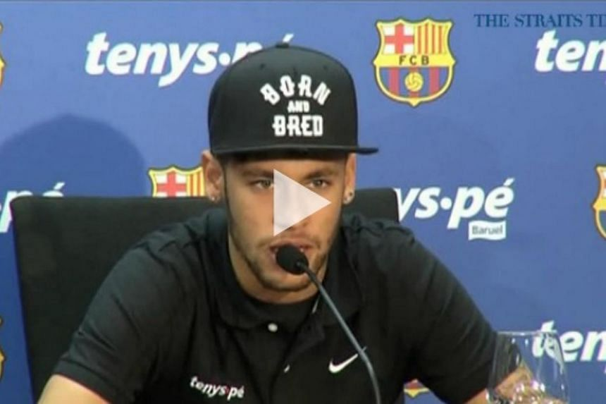 Neymar Jr is keen to leave his mark on the Barcelona team, even if he does not spend the rest of his career there. -- PHOTO: SCREENGRAB FROM VIDEO