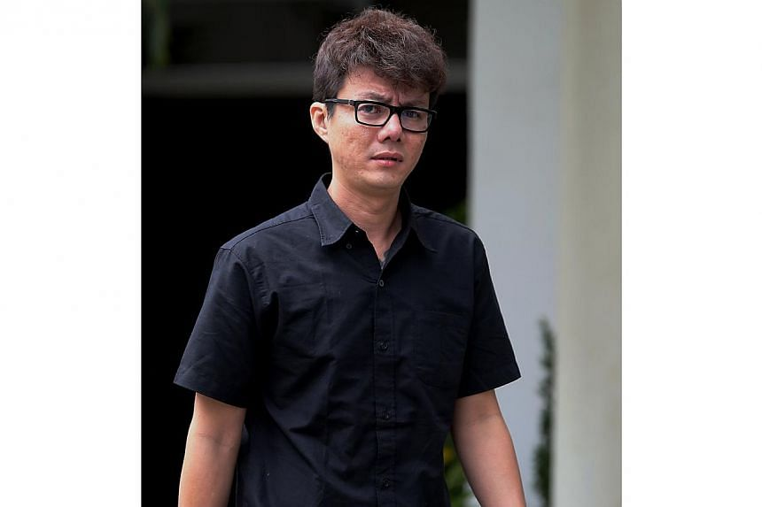 Loo Wee Kiat beat his wife up because he thought she was cheating on him, when he was the one having the affair. -- ST PHOTO: WONG KWAI CHOW