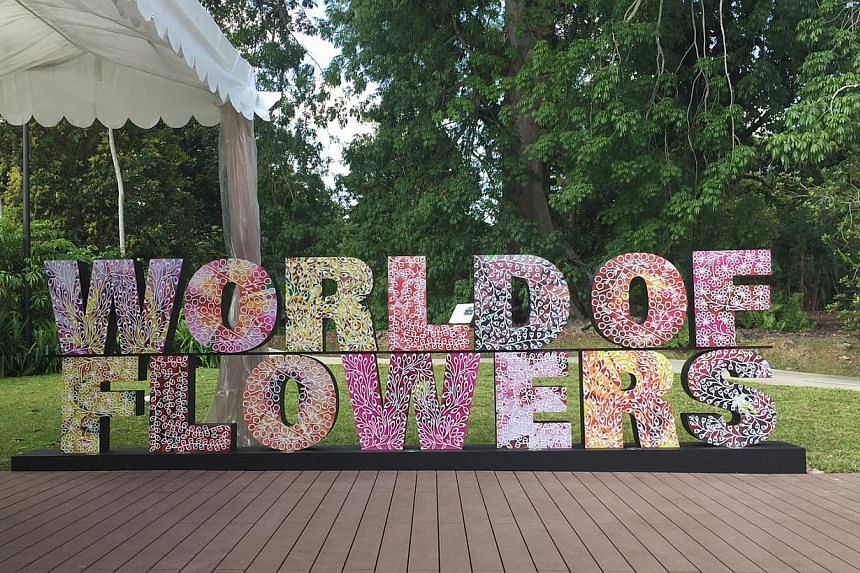 The World of Flowers exhibition was opened on Jan 28 by Minister of State for National Development Desmond Lee. NParks also announced an upgrade of the National Orchid Garden. -- ST PHOTO: AUDREY TAN